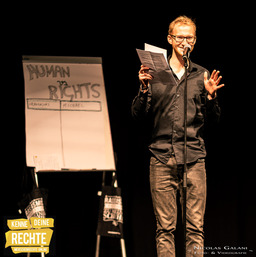 "poetry Slam ""HUMAN vs. RIGHTS"""